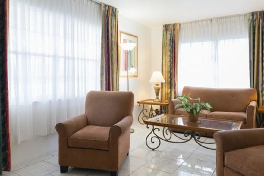 One Bedroom Apt-Living Room
