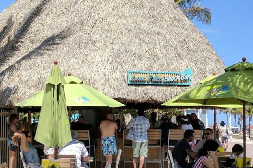 Lone Palm Beach Bar - Beachfront, Top-30 Tiki Bars in Florida!