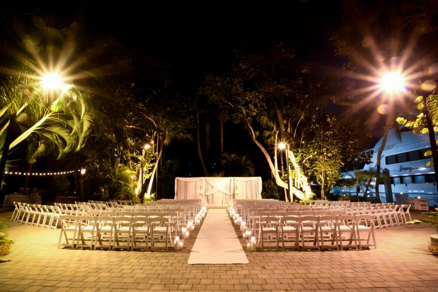 Gardens Wedding at Night
