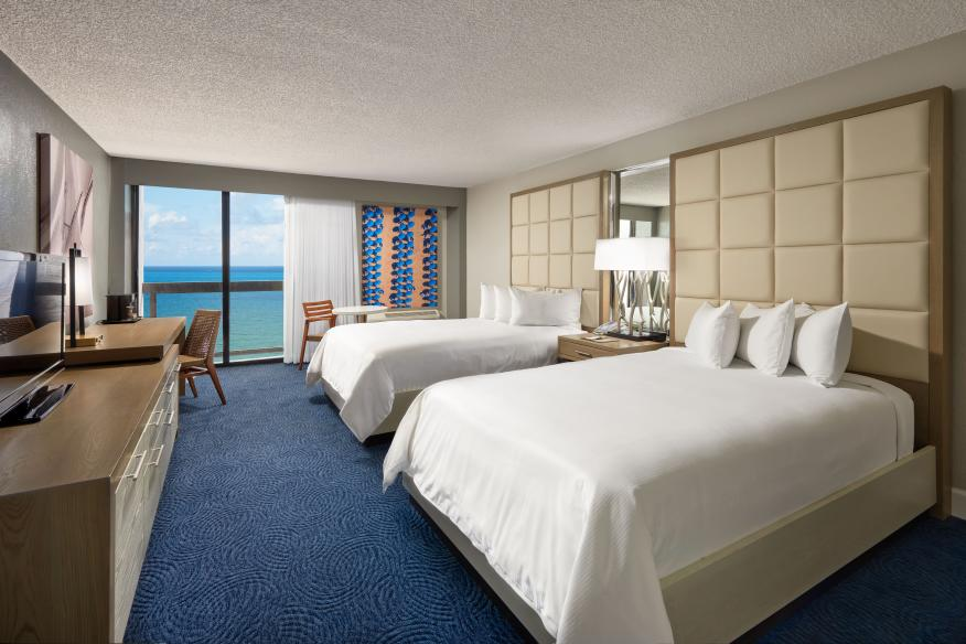 Ocean Front View Guestroom W/ 2 Double Beds