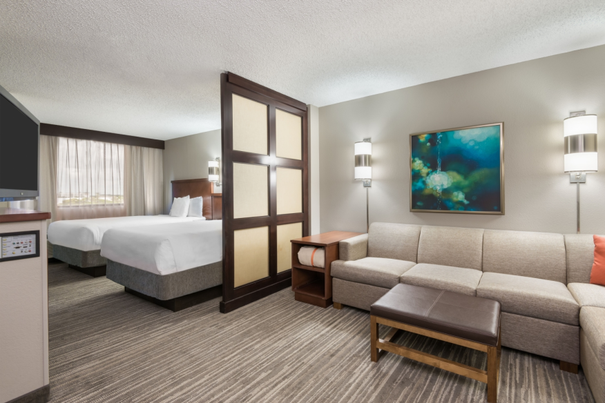 Hyatt PLace Plantation Double Bed Room with Sofa Bed