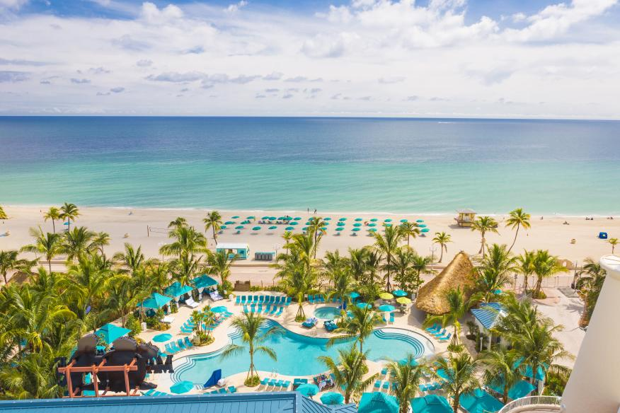 Margaritaville Hollywood Beach Resort - Lone Palm Pool and Beach