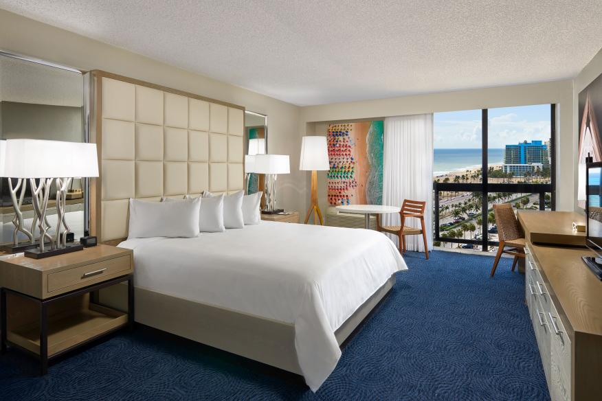 Partial Ocean View Guestroom w/ King Bed