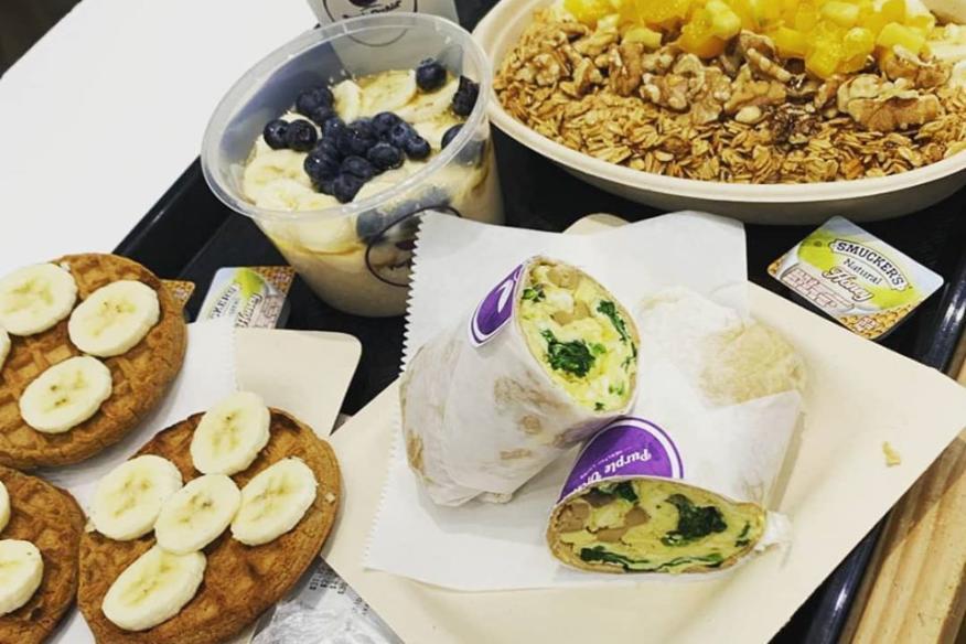 Family breakfast Purple Orchid way