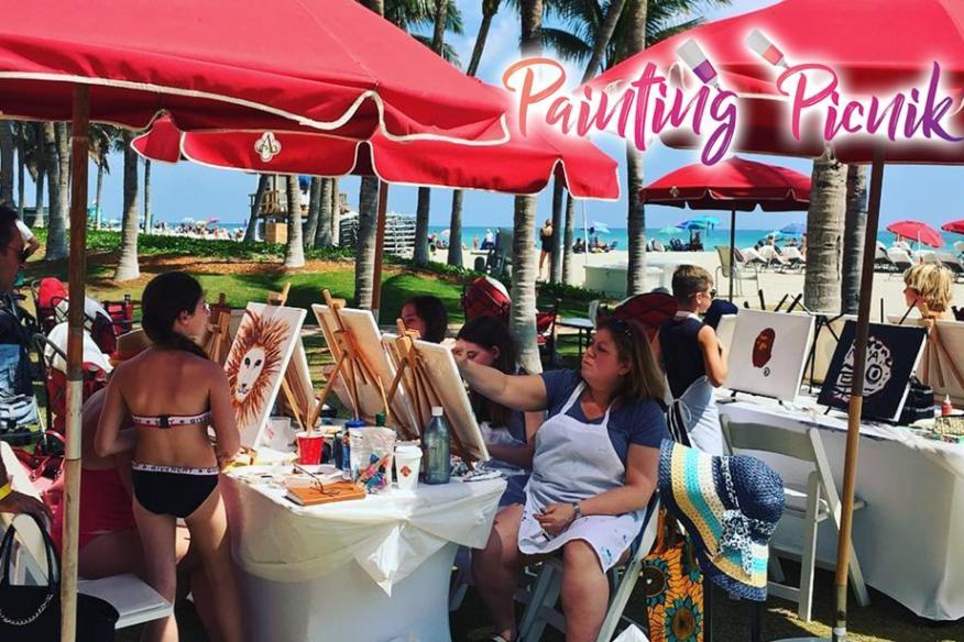 Painting Picnik at the Beach