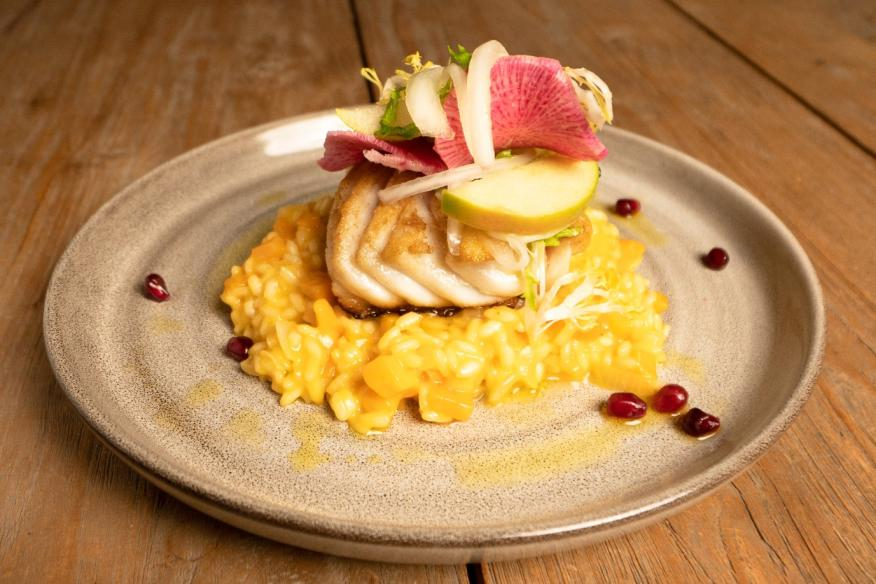 Pan Roasted Grouper With Butternut Squash Risotto