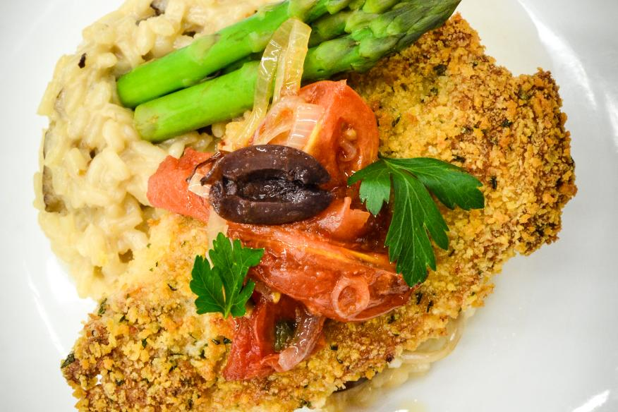 Parmesan Crusted Free Range Chicken Breast