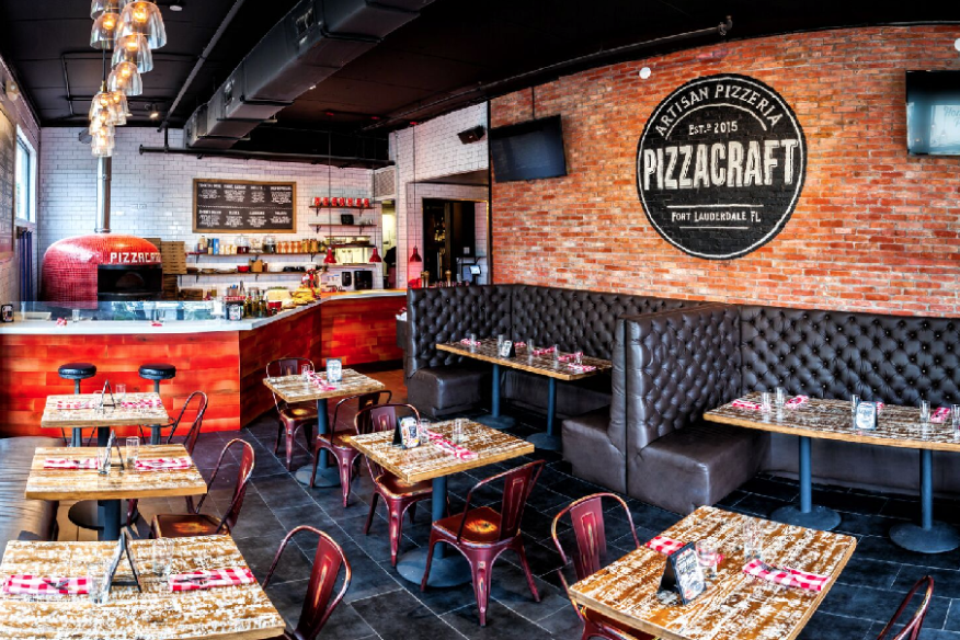 Pizza craft inside