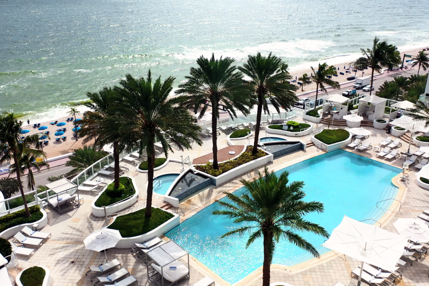 Pool + Beach View