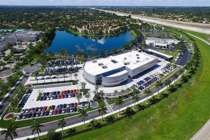 Aerial of Porsche Dealership