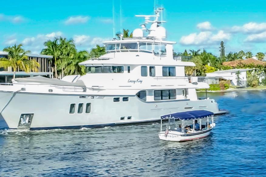 Mega Yachts up close and personal.