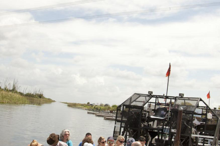 Airboat Ride Departing