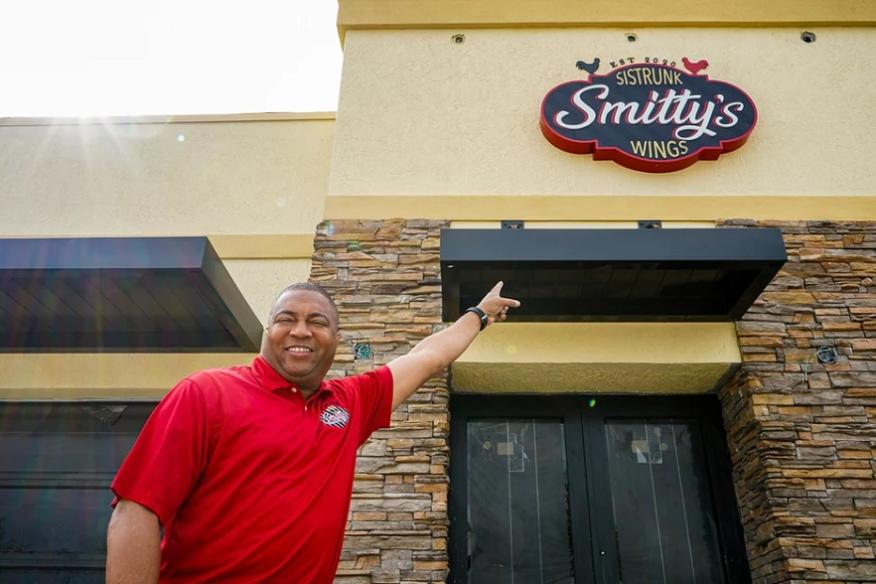Entrance to Smitty's Wings