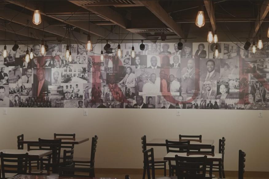 Historic Sistrunk Wall inside Smitty's