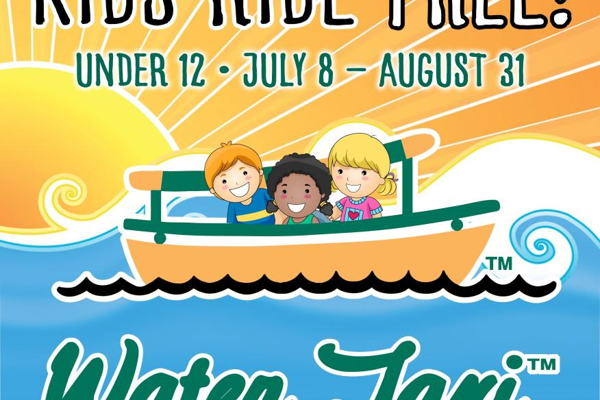 Summer-Kids under 12 Ride for free July 8-August 31