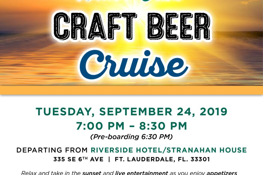 Sunset Craft Beer Cruise with Tarpon River Brewing