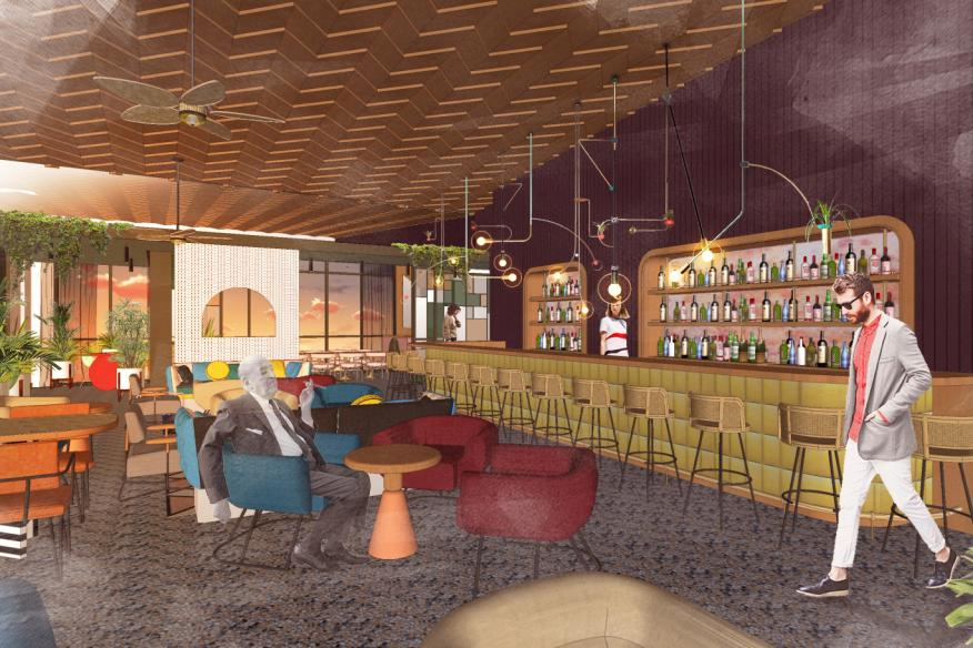 The Dalmar Rooftop Bar Rendering