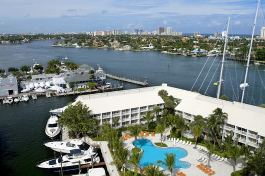 Intracoastal and Pool view from our Tower Guest Room