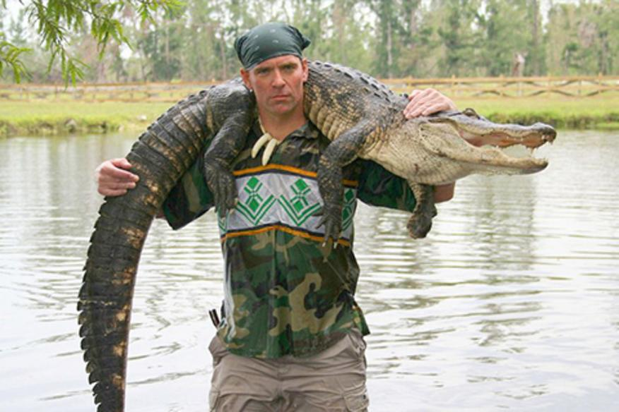 Man With Alligator