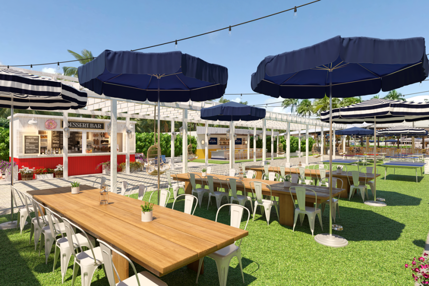 Lawn, Food-Truck Area at The Wharf Fort Lauderdale