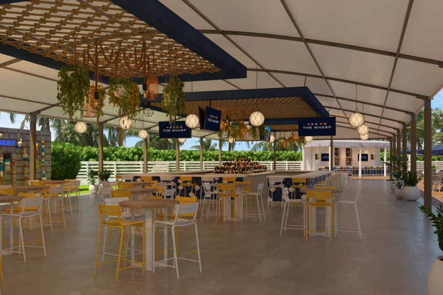 Tented Inside Area at The Wharf Fort Lauderdale