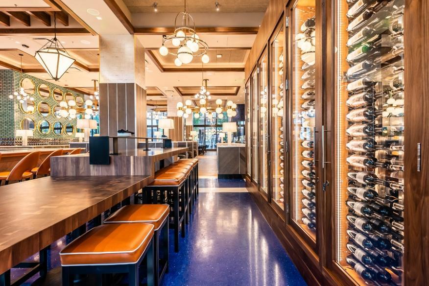 Wine Wall in Bar
