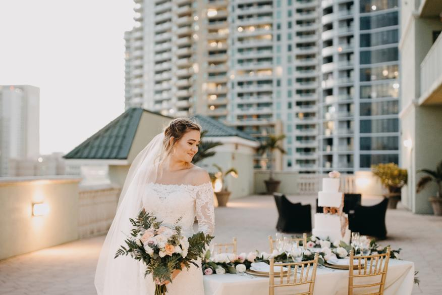 Our Skyline Terrace is a dreamy ceremony + reception space!