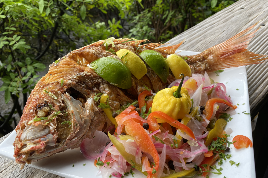 Whole Snapper with Escovitch