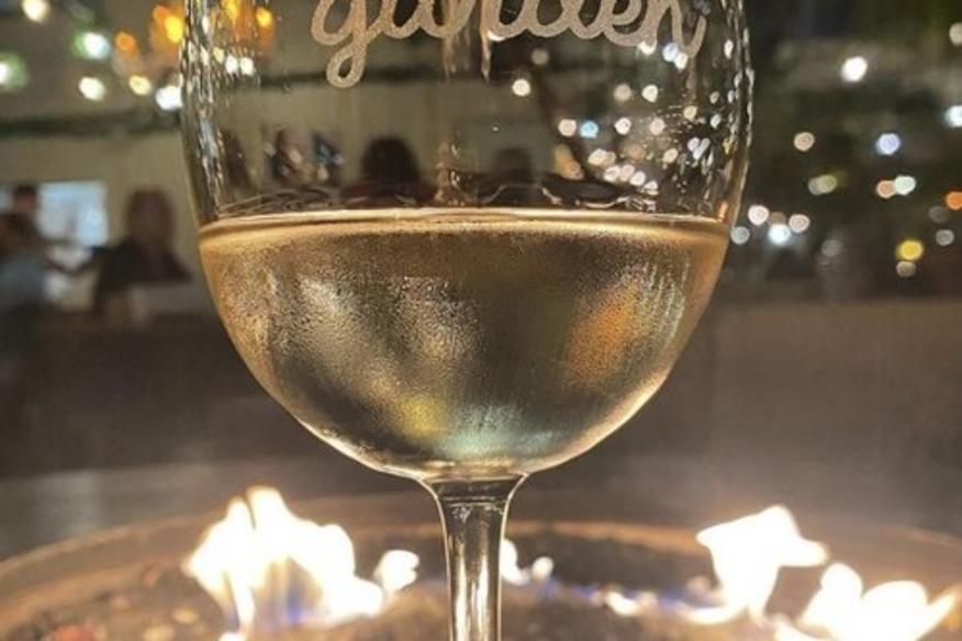 Wine Garden Glass