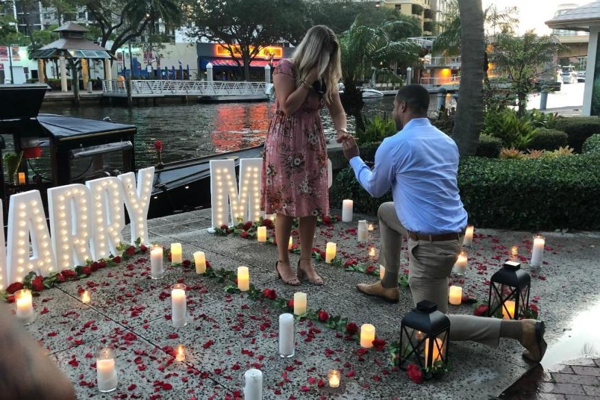 Romantic Proposal at the Dock !