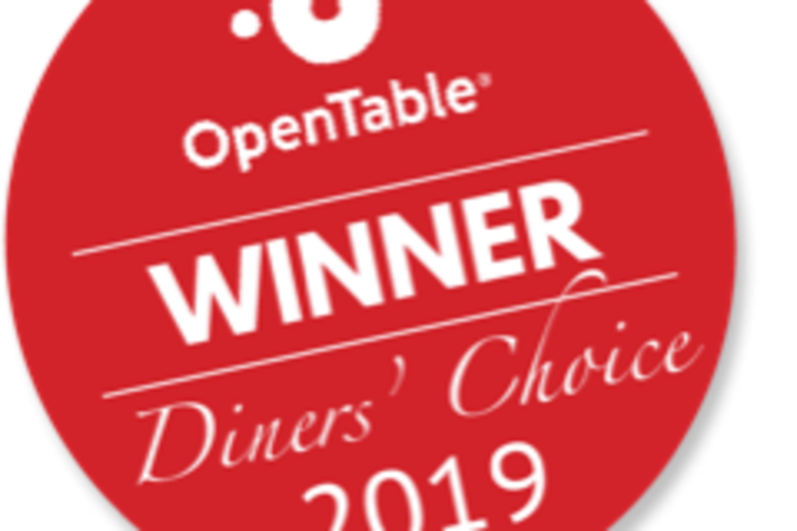 OpenTable Diner's Choice Award 2019