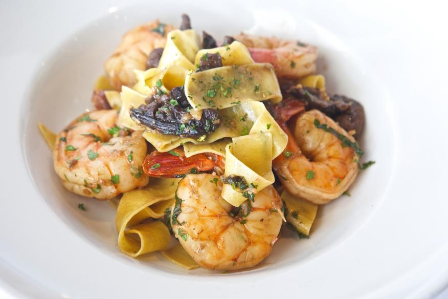 Spazio's Signature Pasta with Shrimp