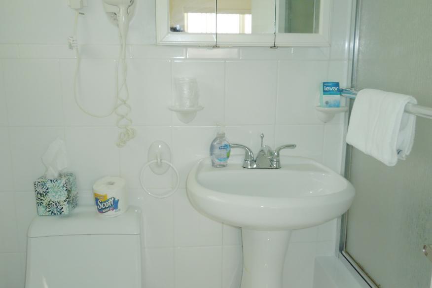 One bedrom apartment bathroom
