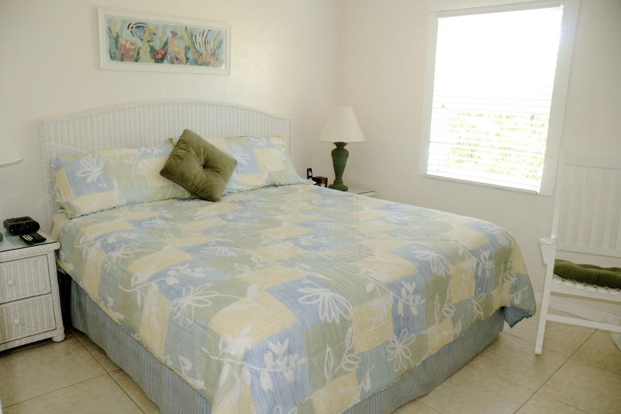 One-bedroom apartments have king bed