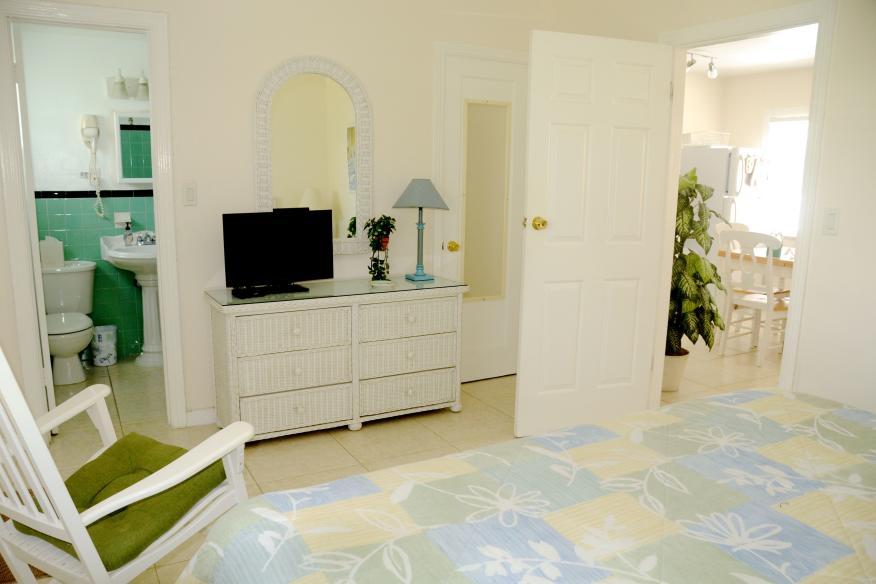Bedroom of one-bedroom apartment