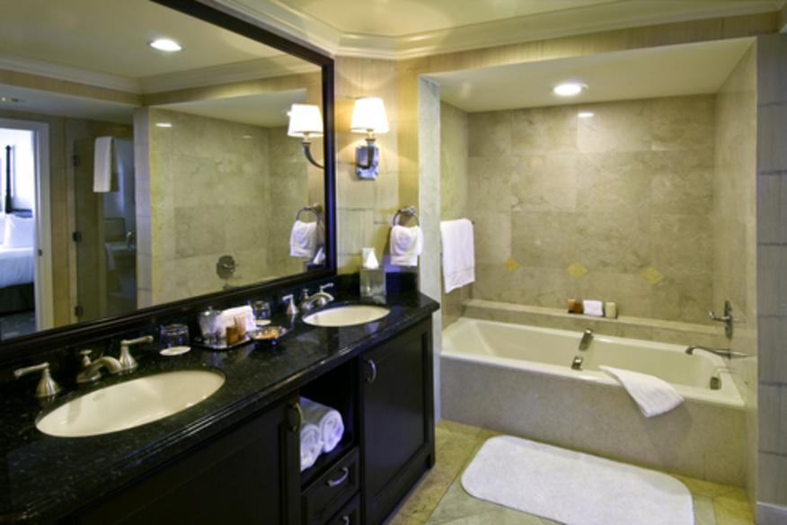 Oversized Marble Bathroom