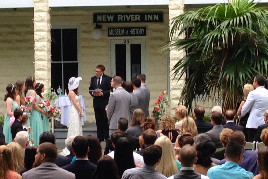 Wedding Ceremony on Front Steps
