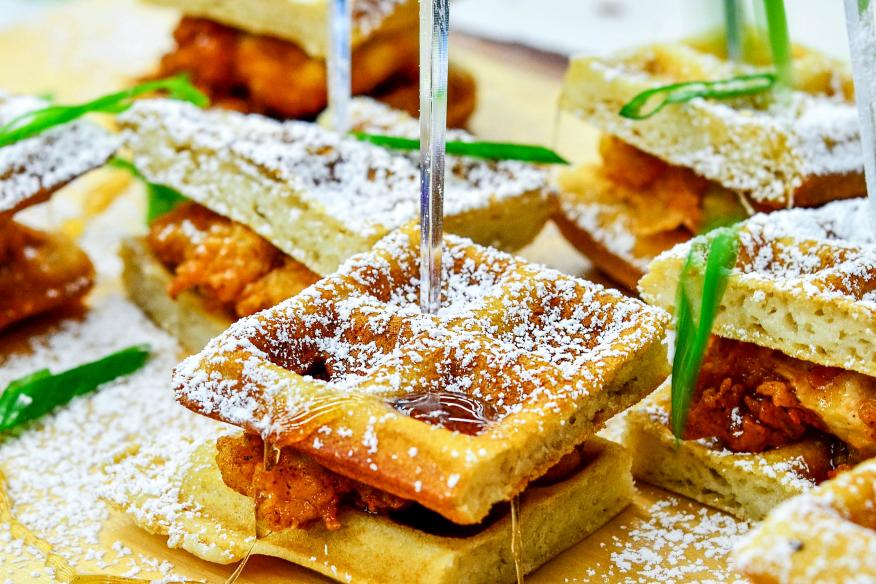 Chicken and Waffle Stack