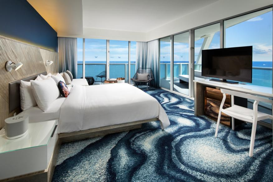 W Fort Lauderdale Cool Corner Guest Room