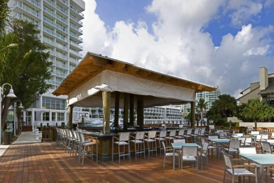 The G Bar sits Intracoastal and Poolside