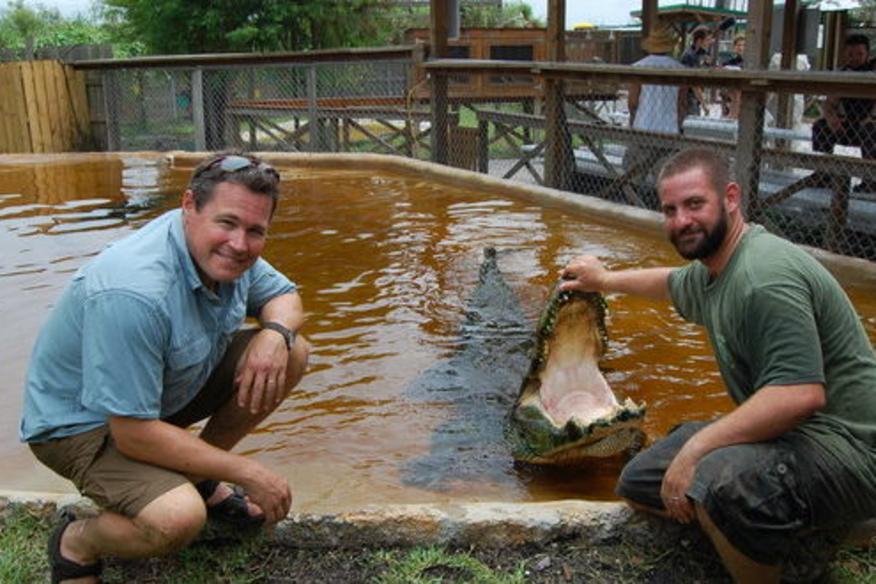Gator Tim and Jeff Corwin