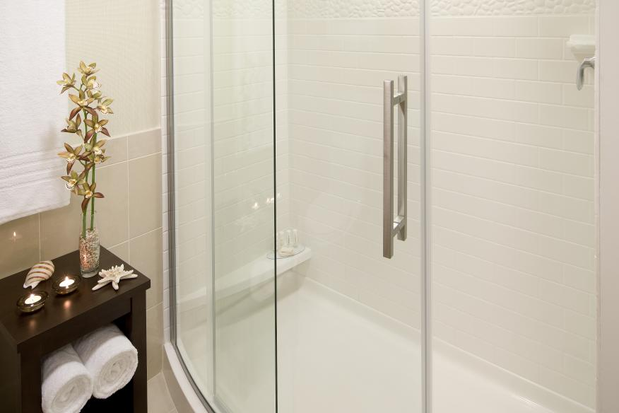 Luxurious and spacious bathrooms at this hotel close to Pompano Beach