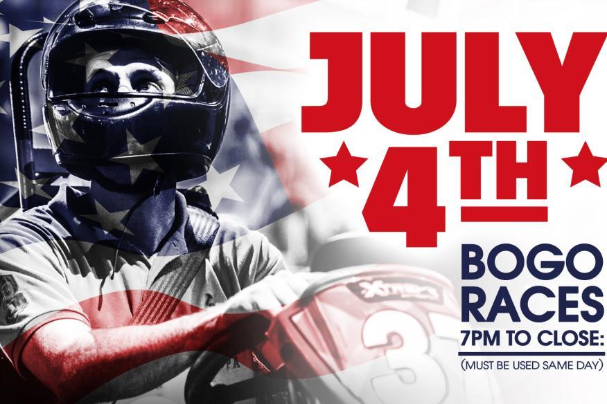 4th of July BOGO Go-Kart Racing