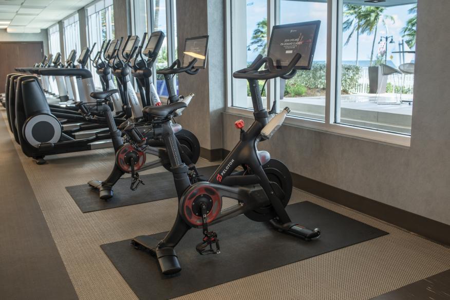 Pelaton at Fitness Center