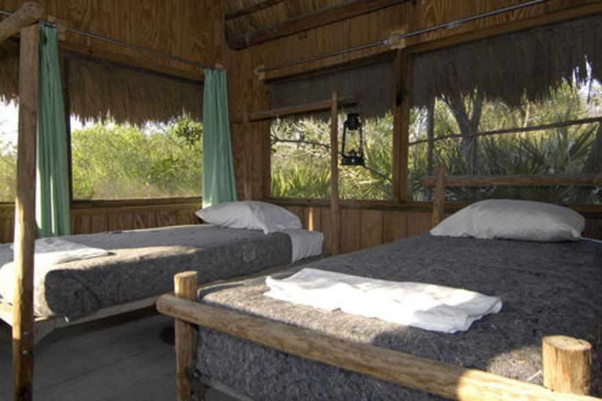Stay overnight in a Seminole Chickee