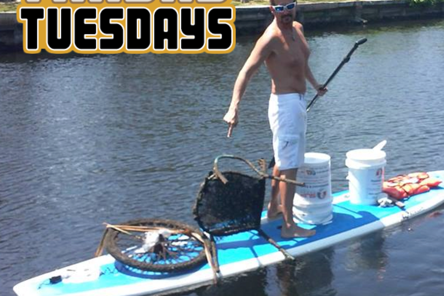 50% OFF Trashy Tuesday -  Clean River Project - Any SUP Rental or Tour 50% Off if you grab a bucket