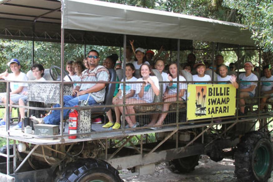Swamp Buggy tours are fun for all ages