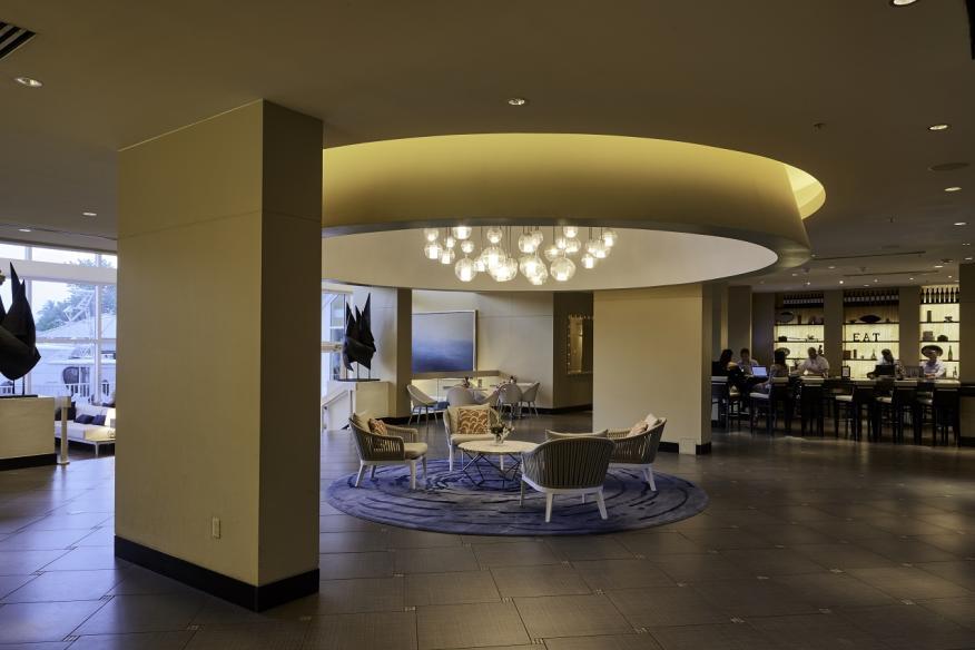 lobby facing cafe