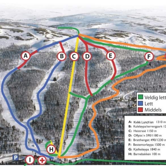 uvdal alpinsenter kart Uvdal Skisenter