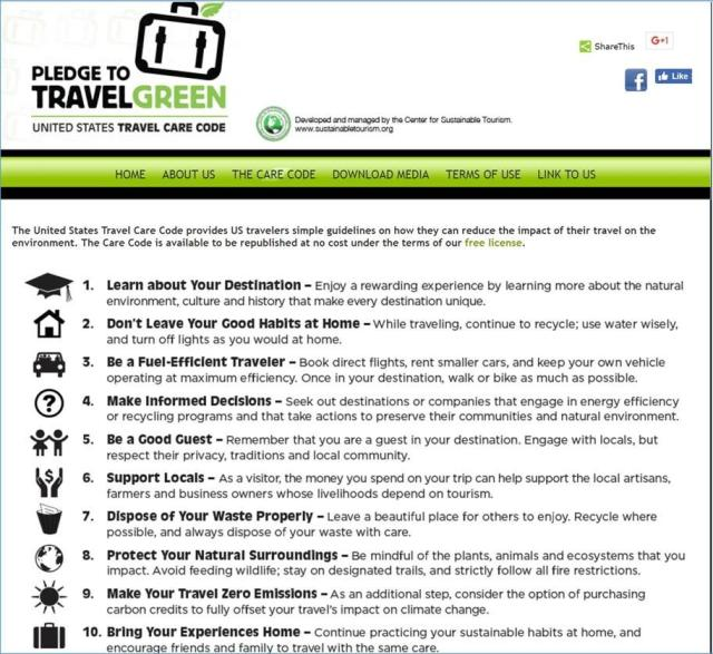 Sustainable Travel Green